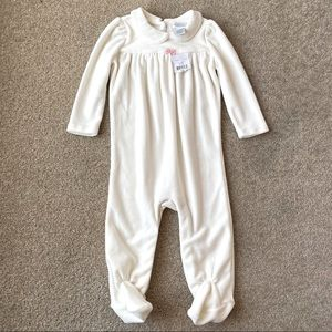 Ralph Lauren Velvet Footed Baby Outfit